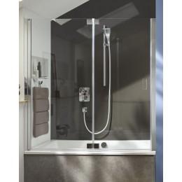 E6D127-GA Jacob Delafon Capsule, Шторка для ванны,140х140 см,  серый блестящий