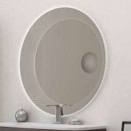 45011 Зеркало с увеличительным зеркалом и со встроенной LED подсветкой 45011, 100х100 45011