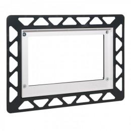 9240644 Tece square рамка для установки стеклянных панелей на уровне стены металлическая