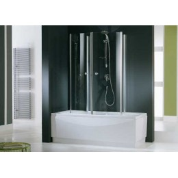 Шторка для ванны полукруглая Novellini Aurora 70,75,80 см