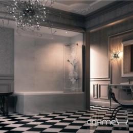 Huppe Design victorian Шторка для ванны однопанельная DV1401 левая