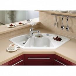 Villeroy&Boch Solo Corner 6708 01 R1 Керамическая угловая мойка для кухни