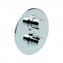 12950R2.CR LA TORRE TOWERTECH Смеситель встраиваемый термостатический для душа, 2 потребителя, хром