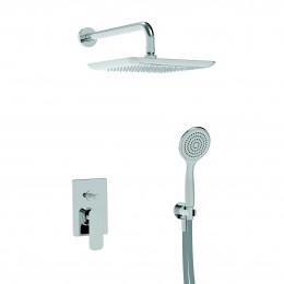 44050RSOFKIT.CR.BI LA TORRE LAGHI Душевой набор: верхний душ, ручной душ, смеситель. Цвет хром/белый.