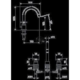 14001CROSS.CR LA TORRE TOWERTECH Смеситель для раковины на 3 отверстия, хром