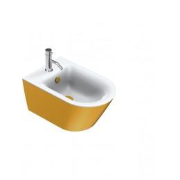 1BS55NRBO Catalano 68688 GOLD & SILVER Биде подвесное 55*35, безободковое, белое/золото. Крепеж включен.
