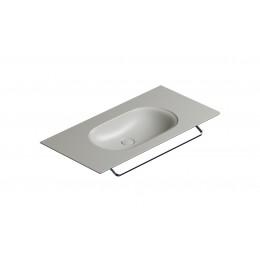 1100HZCS Catalano 68756 Horizon 100 Столешница с интегрированной раковиной цемент матовый