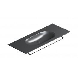 Horizon 125 Столешница с интегрированной раковиной черная матовая