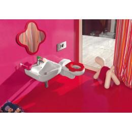 Зеркало с подсветкой Laufen FLORAKIDS 4.6160.1.003.469.1 Красный