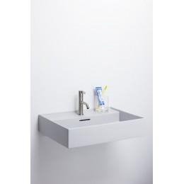 Раковина  Laufen  Kartell by Laufen 8.1033.3.759.109.1  60 см, без отверстия для смесителя, цвет серый матовый